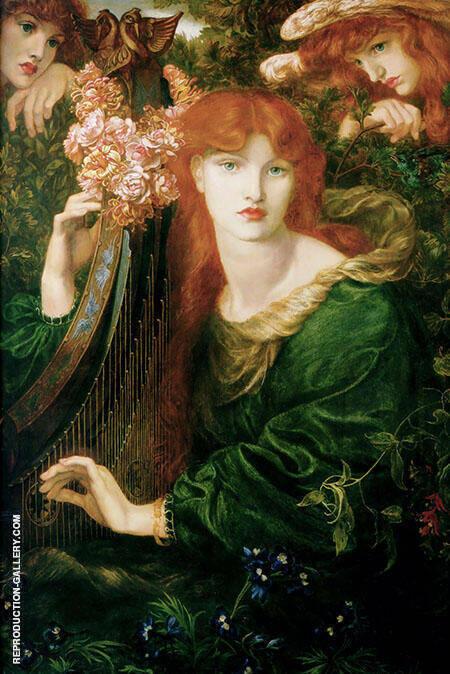 La Ghirlandata 1871 By Gabriel Dante Rossetti