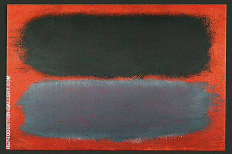 Charcoal and Grey on Tangerine By Mark Rothko (Inspired By)