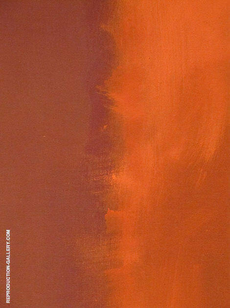 Orange Divide By Mark Rothko (Inspired By)