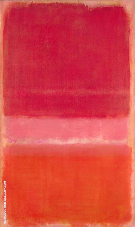 Two Pinks and Orange By Mark Rothko (Inspired By)