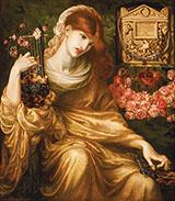 La Viuda Romana By Dante Gabriel Rossetti