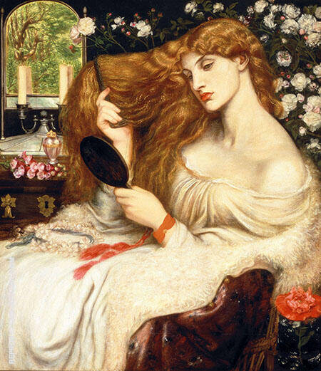 Lady Lilith c1866 By Gabriel Dante Rossetti