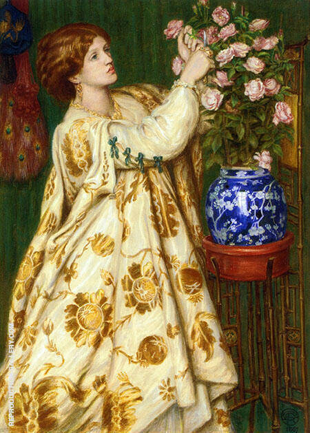 Monna Rosa 1867 Painting By Gabriel Dante Rossetti - Reproduction Gallery