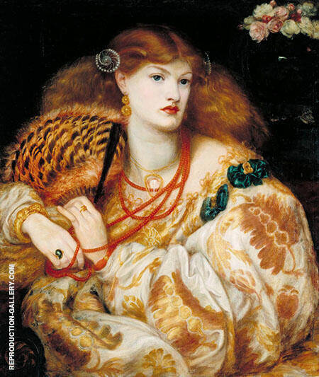 Monna Vanna 1866 Painting By Gabriel Dante Rossetti - Reproduction Gallery