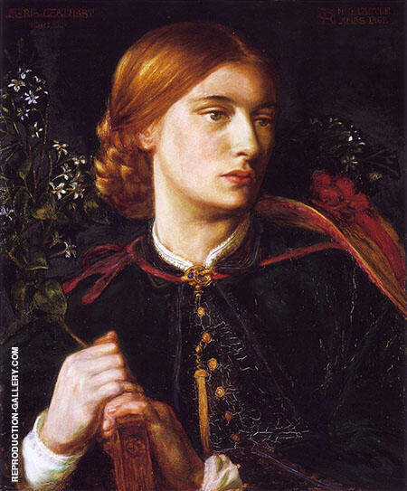 Portrait of Maria Leathart 1862 By Gabriel Dante Rossetti