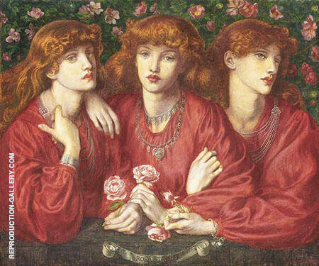Rosa Triplex A Triple Portrait of May Morris Painting By ...