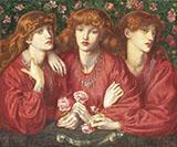 Rosa Triplex A Triple Portrait of May Morris By Dante Gabriel Rossetti