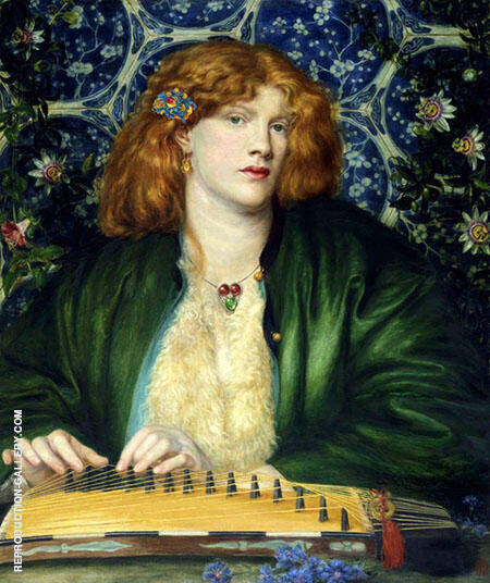 The Blue Bower Painting By Gabriel Dante Rossetti - Reproduction Gallery