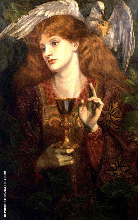 The Holy Grail Painting By Gabriel Dante Rossetti - Reproduction Gallery