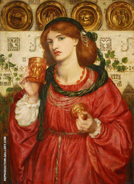 The Loving Cup 1867 By Gabriel Dante Rossetti