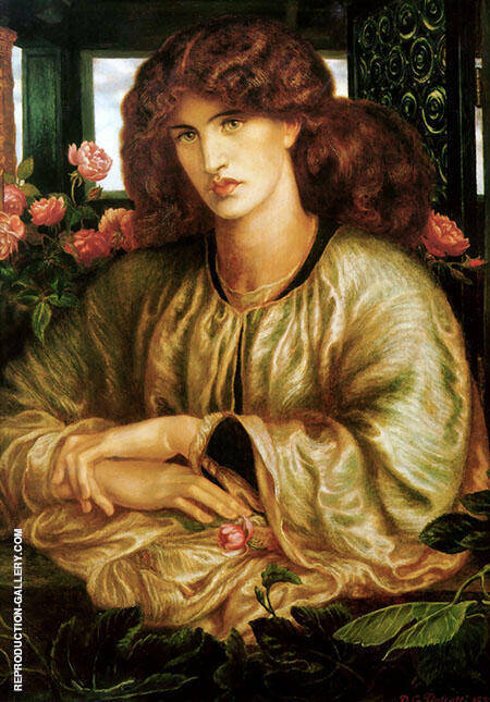 The Women's Window 1879 Painting By Gabriel Dante Rossetti