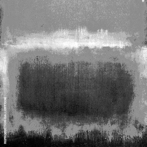 Black and White 17 Square By Mark Rothko (Inspired By)