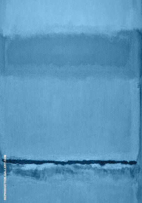Untitled Blue 718B By Mark Rothko (Inspired By)