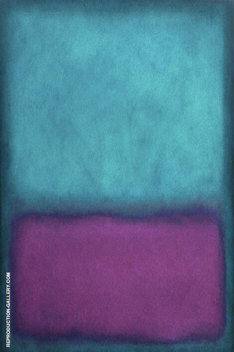 Aqua and Purple By Mark Rothko (Inspired By)