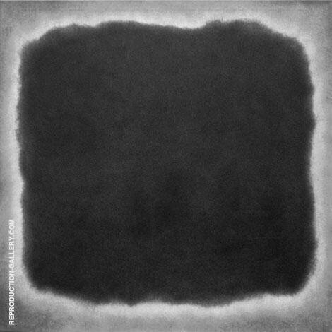 Black and White 18S Painting By Mark Rothko (Inspired By)