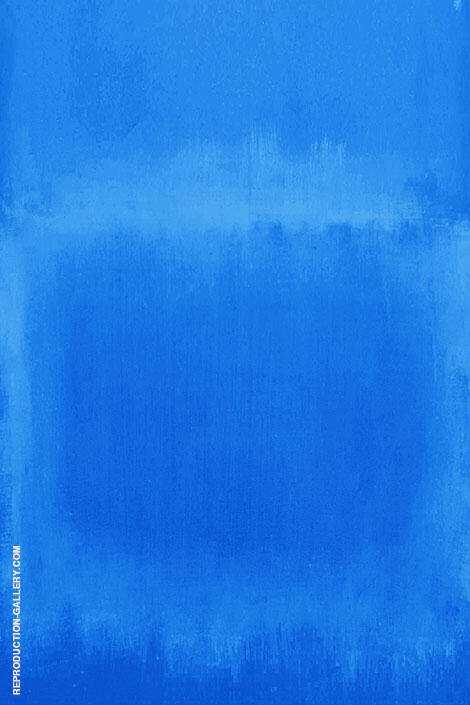 Two Blues Painting By Mark Rothko (Inspired By) - Reproduction Gallery