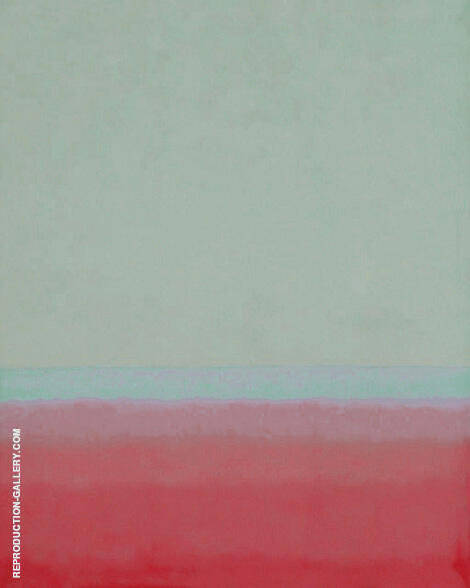 Red and Aqua By Mark Rothko (Inspired By)