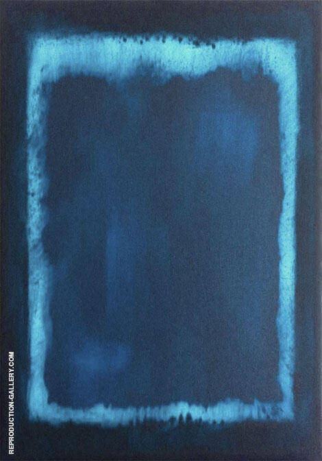 Blue and Marine P Painting By Mark Rothko (Inspired By)