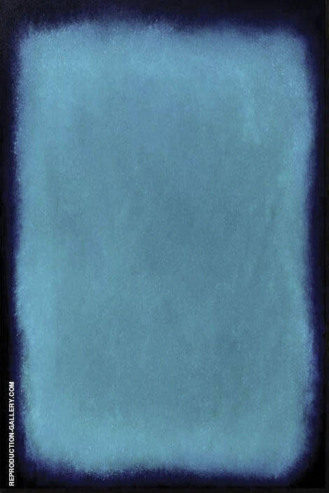 Blue and Marine P 2 Painting By Mark Rothko (Inspired By)