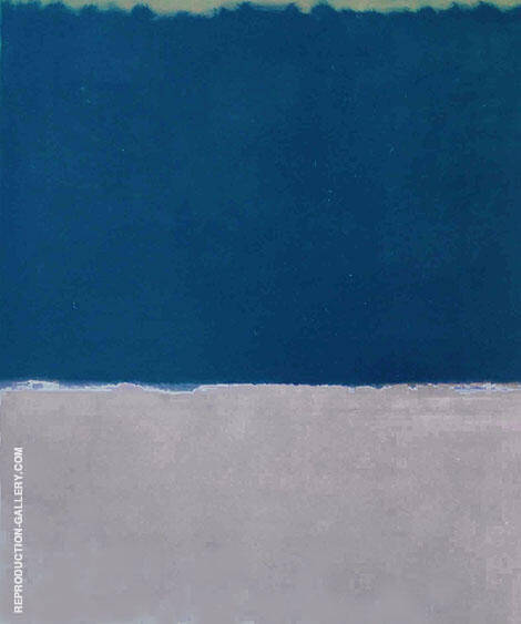 Moss Blue and Gray Painting By Mark Rothko (Inspired By)