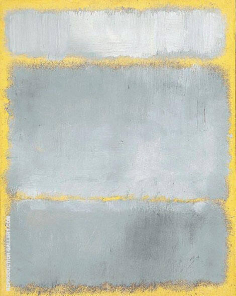 Gray and Yellow Painting By Mark Rothko (Inspired By)