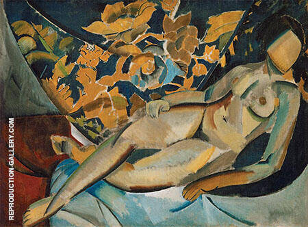 Lying Model 1912 Painting By Vladimir Tatlin - Reproduction Gallery