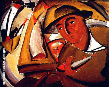 The Fishmonger Painting By Vladimir Tatlin - Reproduction Gallery
