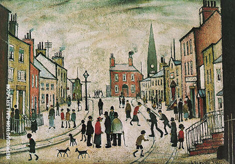 A Lancashire Village 1935 By L-S-Lowry