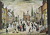 A Lancashire Village 1935 By L-S-Lowry
