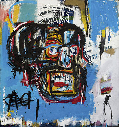 Skull 2 By Jean-Michel-Basquiat