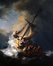 Christ in the Storm on the Lake of Galilee 1663 By Rembrandt Van Rijn