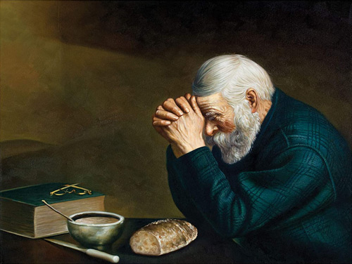Grace - Last Prayer Painting By Eric Enstrom - Reproduction Gallery