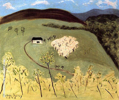 Apple Orchard in Bloom 1943 By Milton Avery