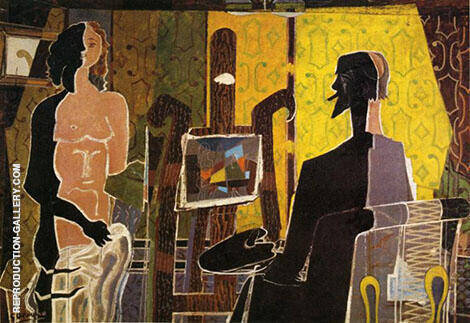 The Painter and his Model 1939 By Georges Braque