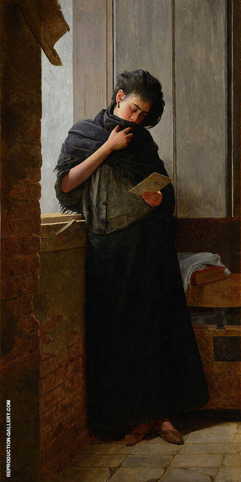 Longing Suadade 1899 Painting By Jose Ferraz de Almeida Junior