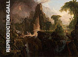 Expulsion from The Garden of Eden By Thomas Cole