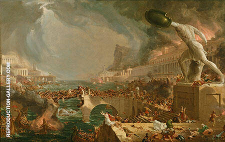 The Course of Empire Destruction 1836 By Thomas Cole