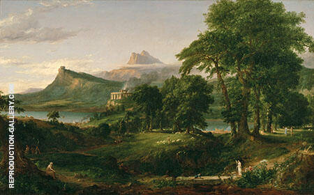 The Course of Empire The Arcadian State Painting By Thomas Cole