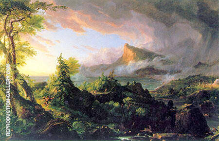 The Course of Empire The Savage State c1834 By Thomas Cole