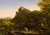 The Mountain Ford By Thomas Cole