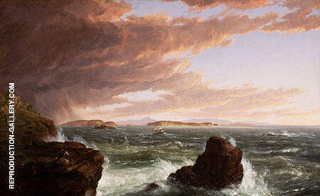The Voyage of Life Manhood 1842 By Thomas Cole