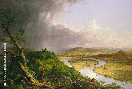 View from Mount Holyoke Painting By Thomas Cole - Reproduction Gallery