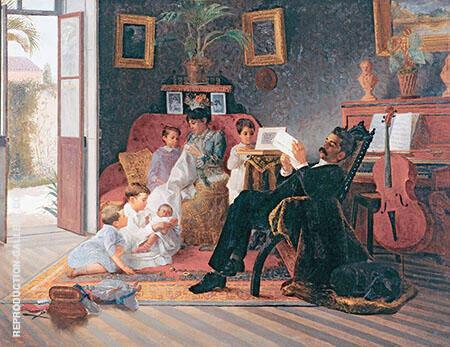 A Família de Antônio Augusto Pinto Painting By ...