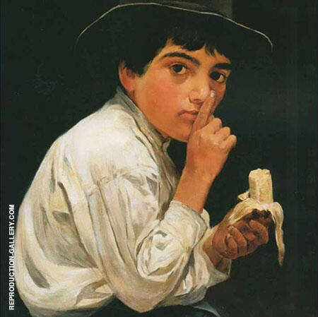 Boy with a Banana By Jose Ferraz de Almeida Junior