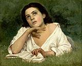Girl with a Book 1850 By Jose Ferraz de Almeida Junior