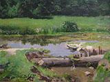 Paisagem Fluvial 1899 By Jose Ferraz de Almeida Junior