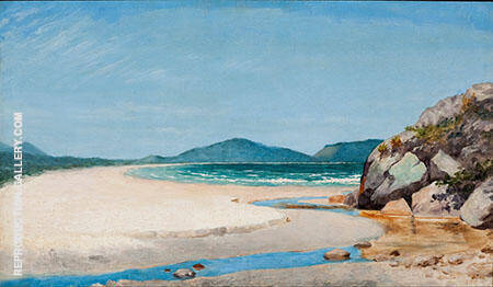 Seascape Guaruja 1895 By Jose Ferraz de Almeida Junior