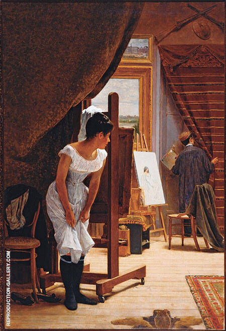 The Artists Studio 1882 By Jose Ferraz de Almeida Junior