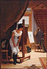 The Artists Studio 1882 By Jose Ferraz de Almeida Junior