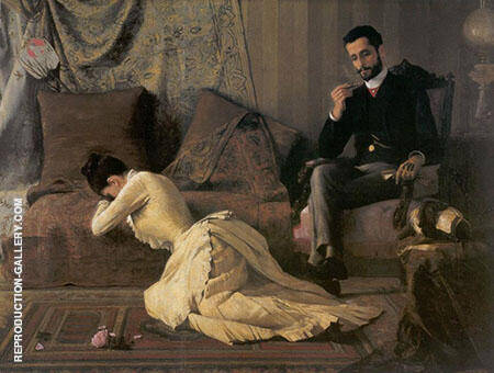 The Spat 1887 By Jose Ferraz de Almeida Junior